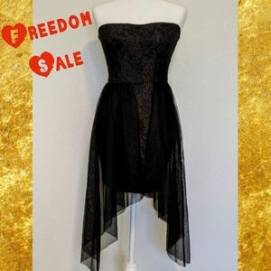 *Final LF YOU Black & Gold Strapless Tulle Dress S